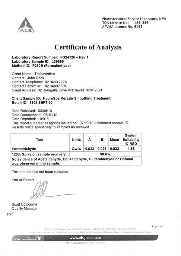 Formaldehyde Testing 000